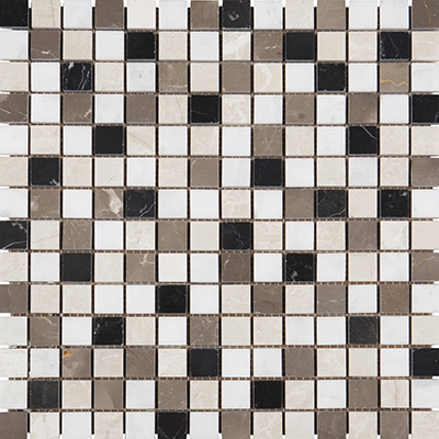 2x2 Blend Mosaic Grey Polished