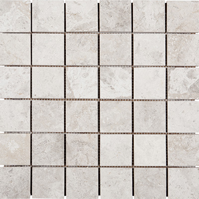 5x5 Silver Shadow Mosaic Polished