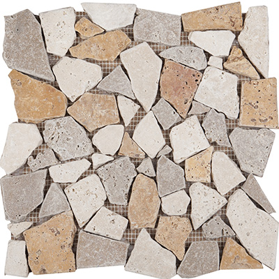 30x30 Mix Travertine Paledien Eskitme