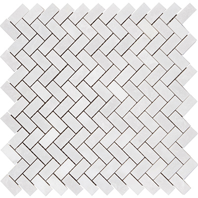 1.5x3.2 Smoke White Herringbone Cilalı