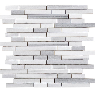 1xRandom Skyfall Vein Cut Brick Mosaic Polished