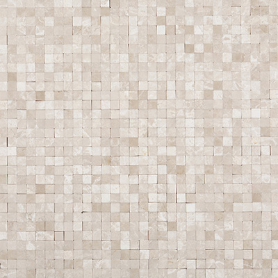 1x1 Ice Beige Mosaic Polished