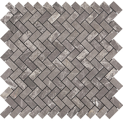 1.5x3.2 Argento Herringbone Polished