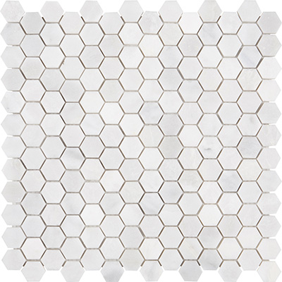 2,3Q Turkish Carrara Hexagon Cilalı