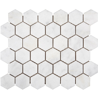 5Q Turkish Carrara White Hexagon Cilalı