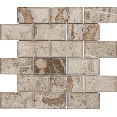 5x10 Ociano Light Bevel Edge Mosaic Polished
