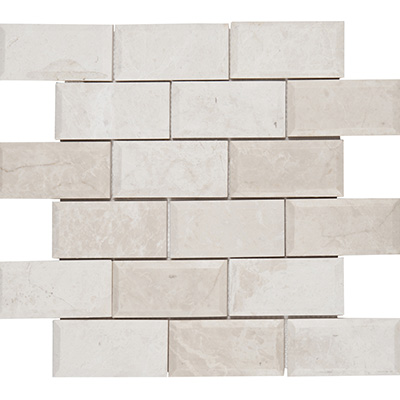 5x10 Ice Beige Mosaic Bevel Edge Polished
