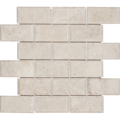 5x10 Crema Nova Mosaic Bevel Edge Polished