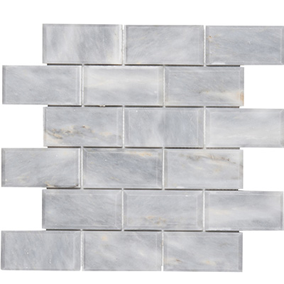 5x10 Smoke Grey Mosaic Bevel Edge Polished