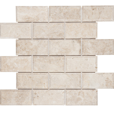5x10 Cappucino Bevel Mosaic Edge Polished