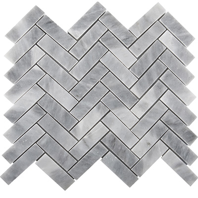 2.3x10 Smoke Grey Herringbone Mosaic Polished