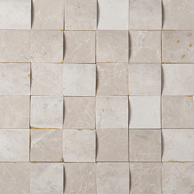 5x5 Ice Beige Mosaic 3D Polished / Honed